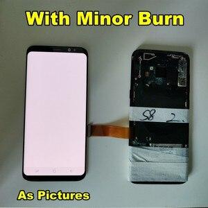 Image 4 - Amoled LCD Mit Rahmen Für Samsung S8 G950 G950U G950F S8 Plus G955 G955F Display Burn Schatten + Touch screen Digitizer Montage