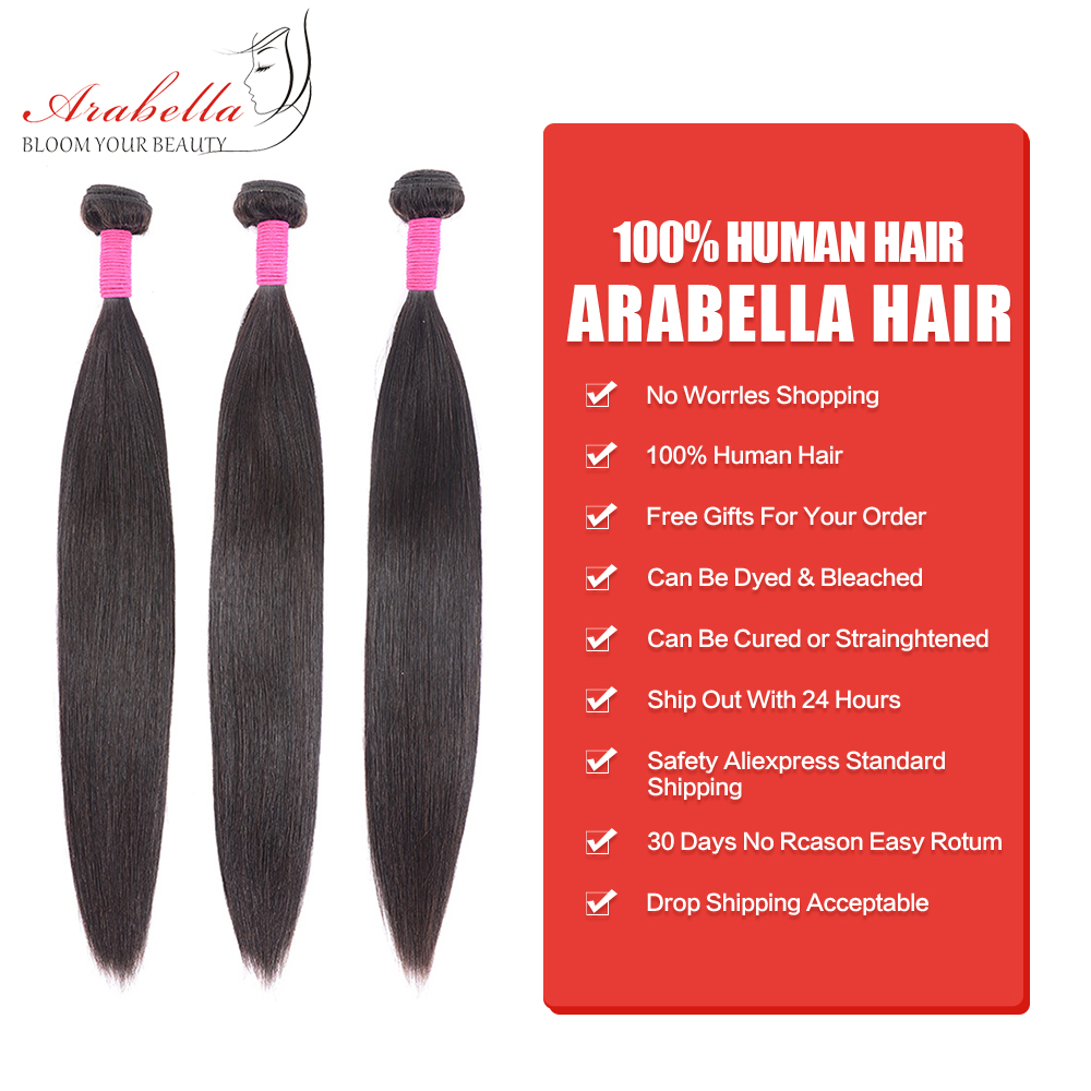 Bundles  Straight Hair  Bundles Natural  Hair Arabella 1/3/4 Pieces   Bundles 2