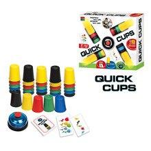 Spor İstifleme bardaklar plastik kart oyunları aile ebeveyn çocuk açık kapalı hızlı mücadelesi eğitim masaüstü komik oyuncaklar klasik