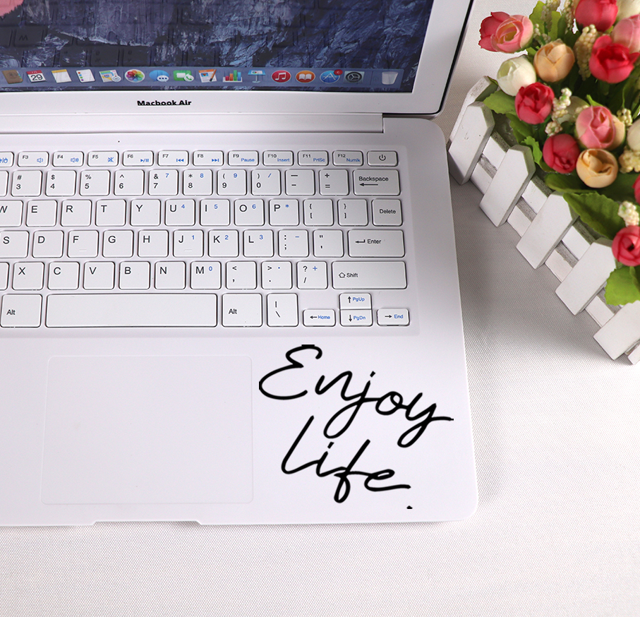 Fashion Life Text Laptop Sticker Vinyl stickers decal on laptop skin decoration