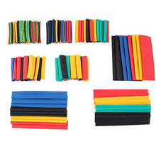 164 Pcs 2:1 Heat-shrinkable Tube 5 Colors 8 Sizes  Wire Cable protective sleeve Polyethylene Insulation Sleevin Set for DIY