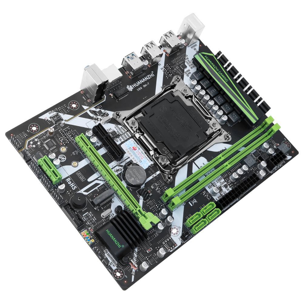 HUANANZHI X99 motherboard with XEON E5 2620 V3 2*8G DDR4 2666 NON-ECC memory combo kit set NVME USB3.0 ATX Server 4