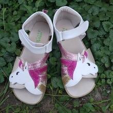 TipsieToes Topยี่ห้อBarefootของแท้หนังผู้หญิงYounthรองเท้าแตะใหม่Zigzig Sole