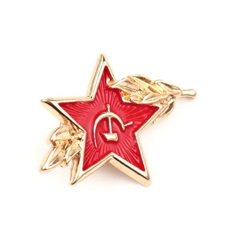 Urss Simbolo Della Guerra Fredda Sovietica Cccp Rosso Star Dello Smalto Spille Falce Martello Spilla Regalo Icona Badge Button Risvolto Spille per cappuccio Del Cappotto Regalo