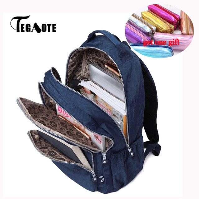 TEGAOTE Kind Schule Rucksack für Teenager Mädchen Mochila Rucksack Schulter Taschen Nylon Wasserdichte Frauen Bagpack Reise Zurück Pack Tasche