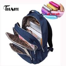 Tegaote criança escola mochila para adolescentes meninas mochila sacos de ombro náilon à prova dnylon água bagpack viagem volta saco