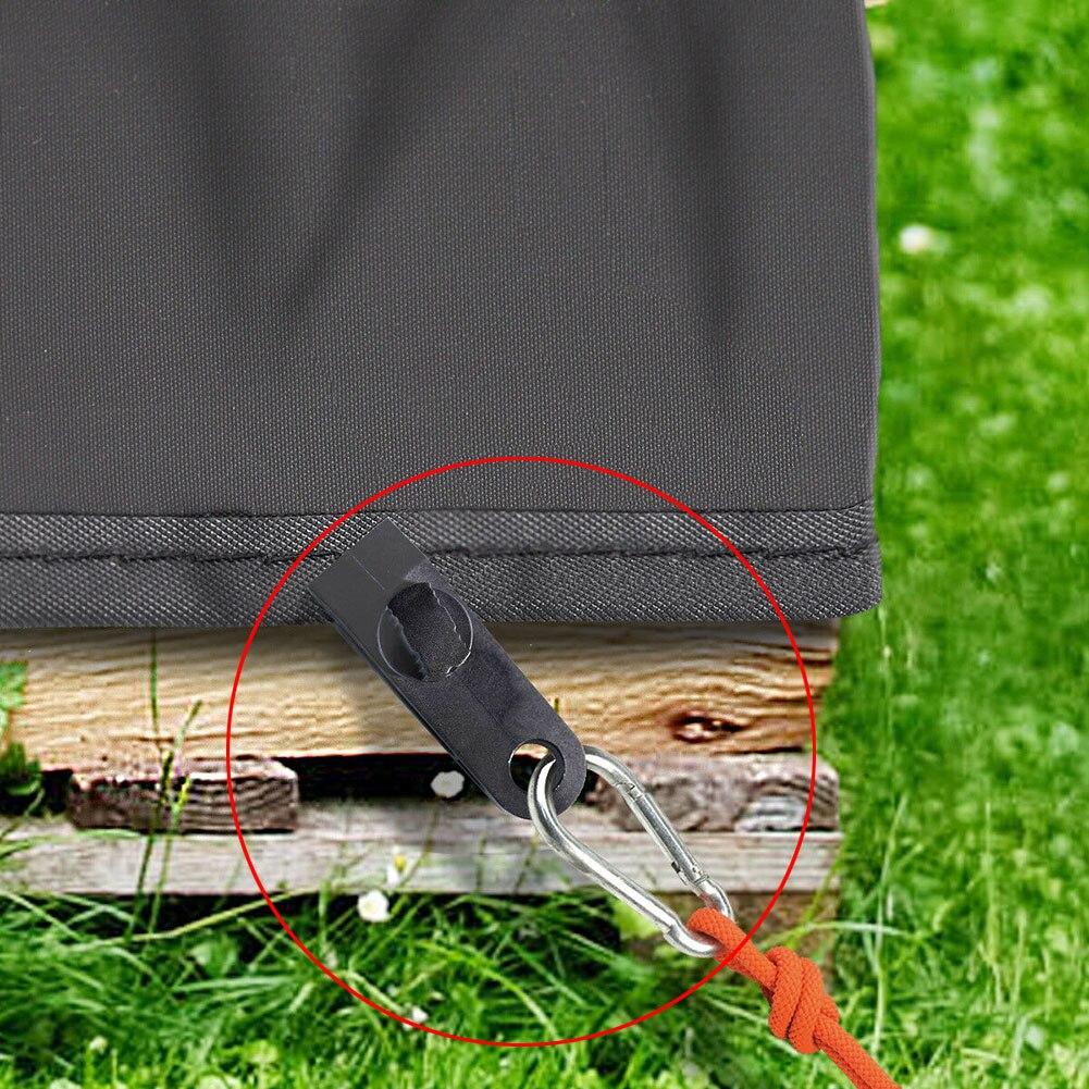 10 шт. Брезент зажимы сверхмощный ветрозащитный тент зажим ручка палатка зажимы аксессуар кемпинг для брезент караван сад тень ткань