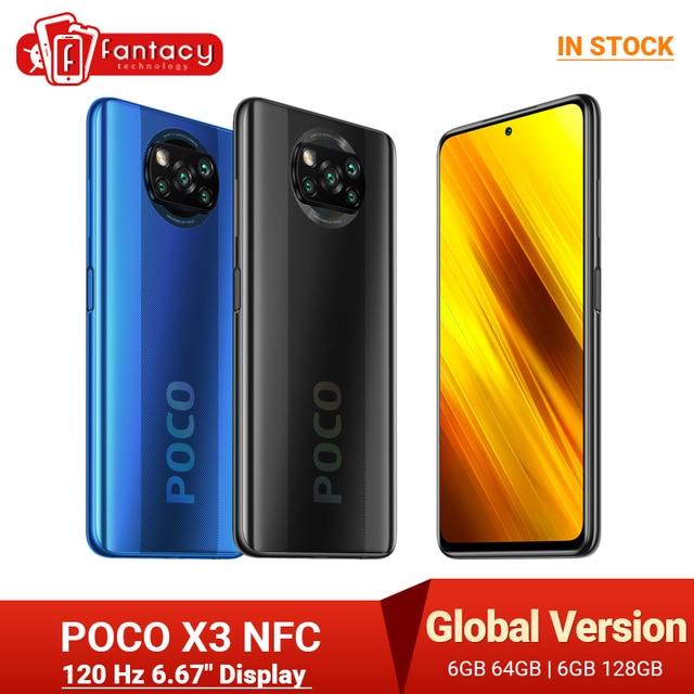 "Global Version POCO X3 NFC 6GB Mobile Phone Snapdragon 732G 64MP Quad Camera Smartphone 6.67"" 120Hz 5160mAh 1"