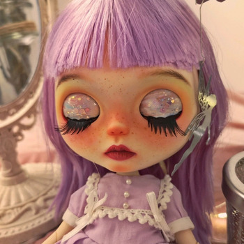 Blyth Doll NBL 1/6 BJD Customized Frosted Face,big eyes Fashion girl makeup Ball Jointed Doll Multicolored Series 5