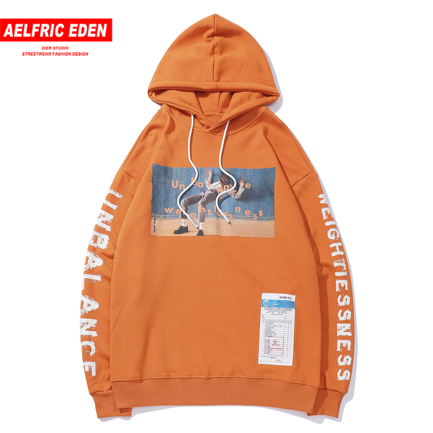 Aelfric Eden Fashion Letter Printed Mens Hooded Sweatshirts Streetwear Harajuku Hip Hop Pullover Outwear Casual Cotton Hoodies