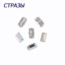 CTPA3bI 4501 Baguette Crystal Rhinestones For Needlework Beads Jewelry Making Handmade Crafts Application Point Back Strass
