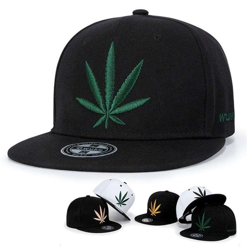 New three-dimensional maple leaf embroidery baseball cap fashion hip-hop snapback caps Outdoor shading leisure hat sunscreen hat