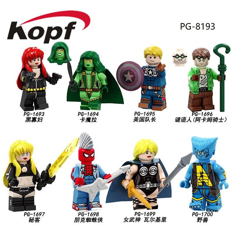 Single Sale Figures Building Blocks Super Heroes Black Widow Captain America Beast Model Bricks Dolls Toys For Children PG8193