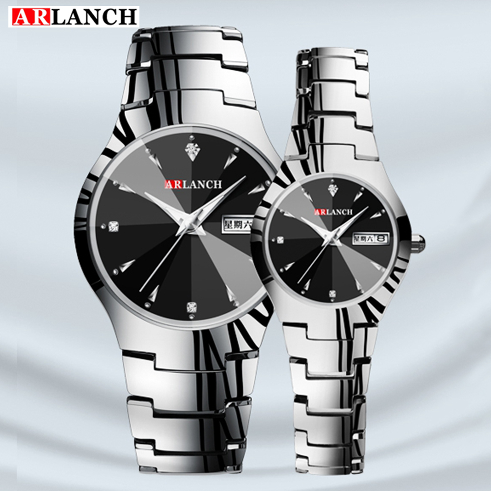 ARLANCH Couple Quartz Watch Mens Waterproof Sports Wristwatch Stainless Steel  Fashion Casual Lovers Clock Relogio Masculino