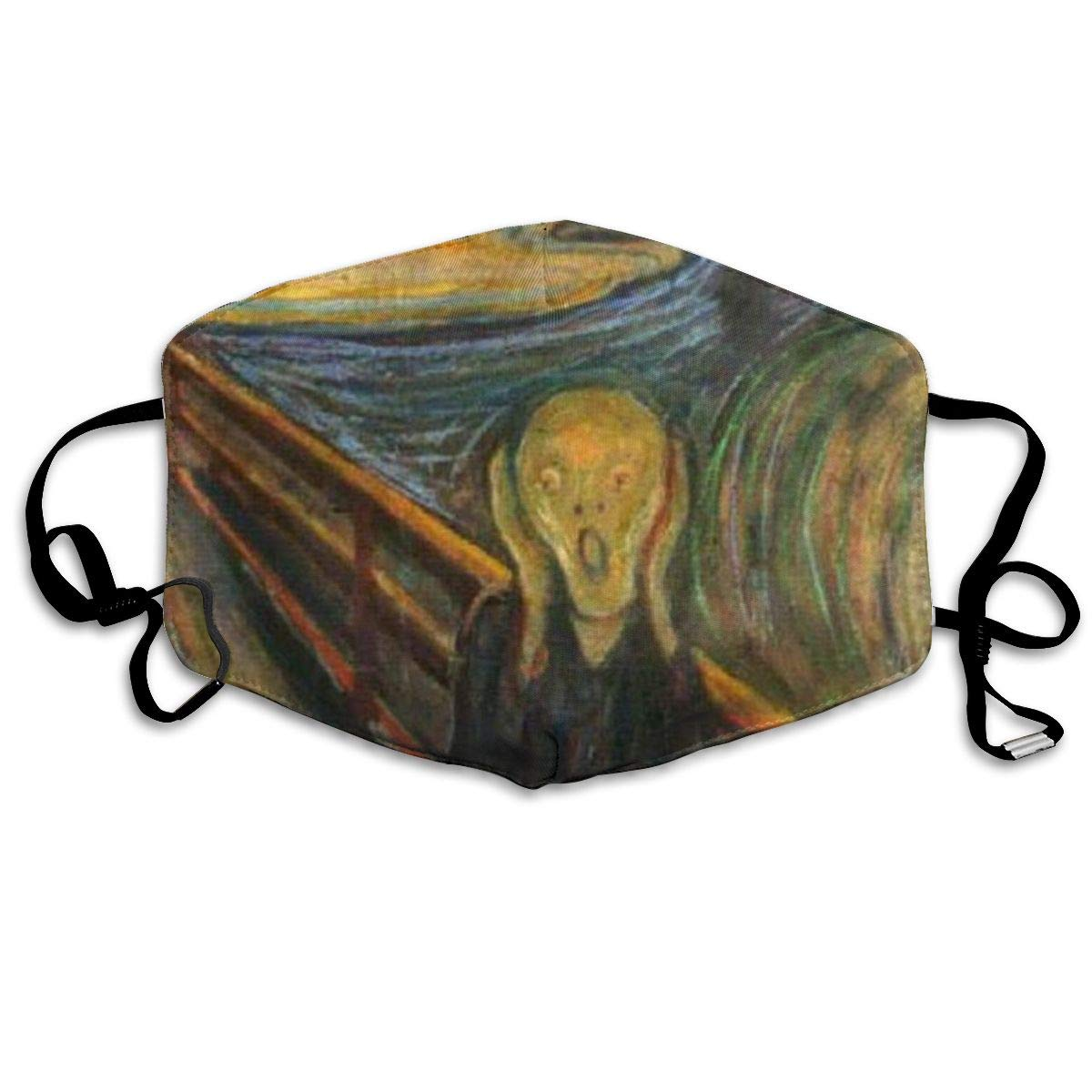 Mouth Mask The Scream By Edvard Munch Print Masks - Breathable Adjustable Windproof Mouth-Muffle, Camping Running For Women And