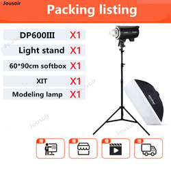 Godox DP600III Professional Studio Flash Light Modeling Light 600Ws 2.4G X System with Bowens Mount 5600K for Wedding CD50 T03