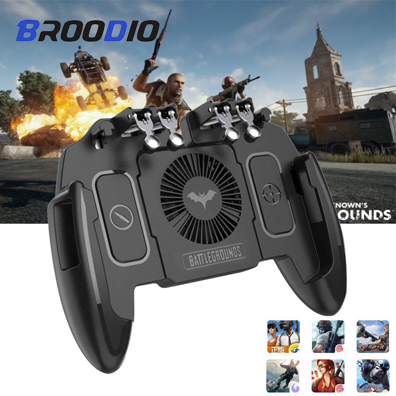 For PUBG Game Gamepad Controller For Mobile SmartPhone Game Controller l1r1 Shooter Trigger Fire Button For IPhone For Free Fire(China)