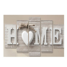 Five pieces of LOVE HOME Wall Painting Modern Canvas For Home Living Room Bedroom Office Wall Decor