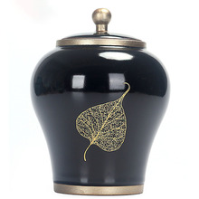 Черная/синяя мемориальная урна для кремации питомцев керамическая градиентная глазурь для собак, кошек, птиц, мышей, пепла, коробка для хранения на память 900 мл