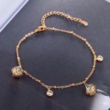 18K Gold Beads Zircon Joker Bracelet Fashion Jewelry Hot Sale Crystal  Lady Bangle Accessories with Cubic Zirconia Ball hot sale natural diamond emerald bracelet bangle in solid 18k white gold bracelet oval 4x6mm na0035