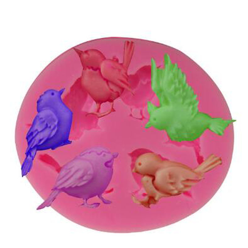 3D DIY Chocolate Pigeon Birds Mould Candy Soap Molds Clay Molds Cake Mold Pastry Making Baking Tools Kitchen Accessories