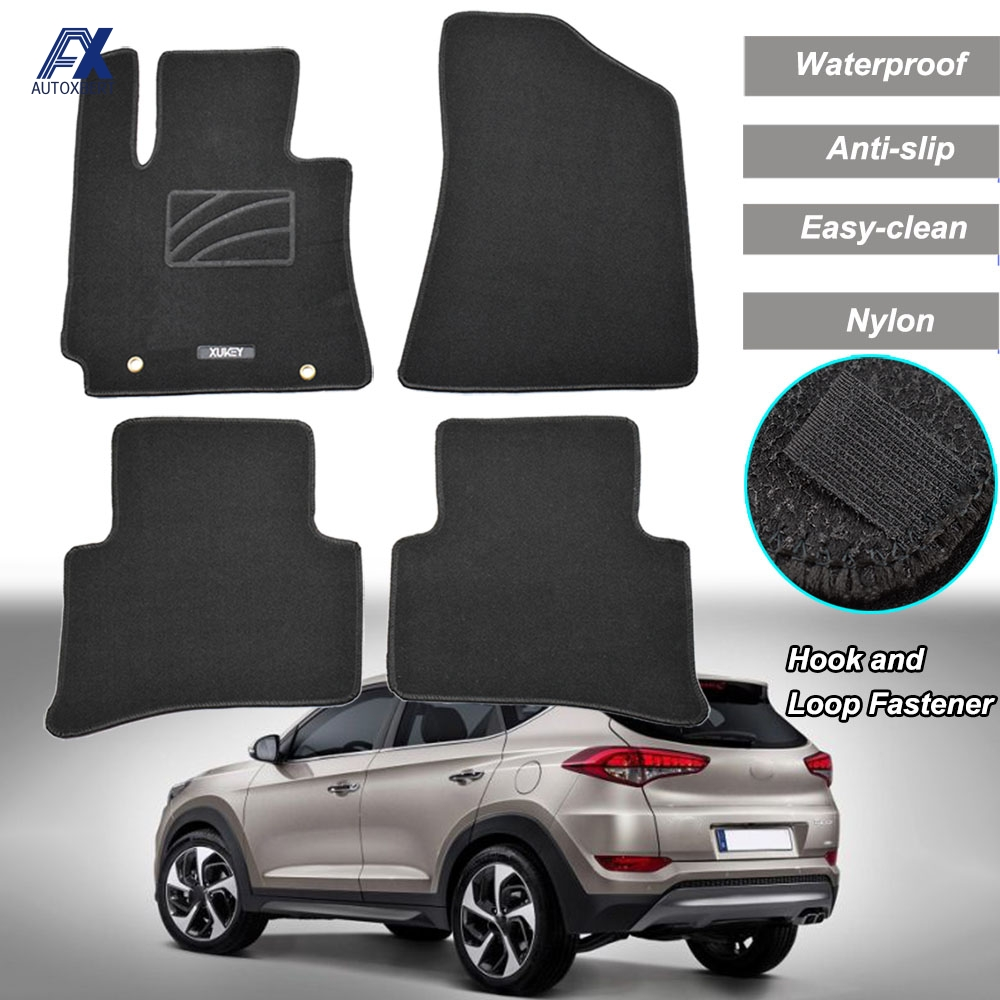 Mats Carpet-Pad Floor-Mat Custom Tucson Hyundai Waterproof Anti-Slip for 4pcs Fit LHD title=