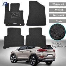 Alfombrillas antideslizantes para coche Hyundai Tucson, 2016, 2017, 2018, 2019, LHD, revestimiento delantero y trasero, alfombrilla personalizada, impermeable, Uds.