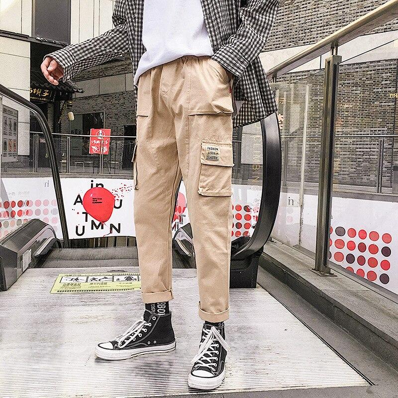 Autumn & Winter Hong Kong Style Popular Brand Casual Pants MEN'S Overalls Versatile Straight-leg Pants Loose-Fit Men's Korean-st