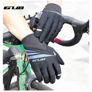 GUB Microfiber Autumn And Winter Sports Riding Essential Whole Finger Shock Absorbing Warm Gloves Cold And Dirt Resistance