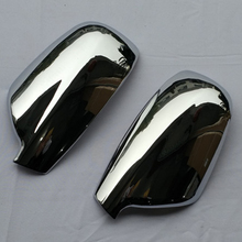 цена на For 2004-2012 Peugeot 307 CC SW 407 Door Side Wing Mirror Chrome Cover Rear View Cap Accessories 2pcs per Set Car Stying