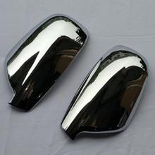 Dla 2004-2012 Peugeot 307 CC SW 407 drzwi lusterko boczne Chrome pokrywa tylna czapka akcesoria 2 sztuk za zestaw Car Stying