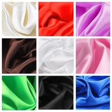 30 cores de tecido de cetim macio casamento festa decoração caixa forro diy roupas costura fundo acessórios