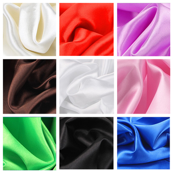 30 color soft satin fabric wedding party decoration box lining DIY clothing sewing background accessories
