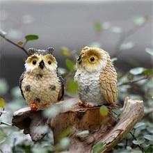 Landscape Owl Doll Resin Fairy Home Garden DIY Decor Micro O