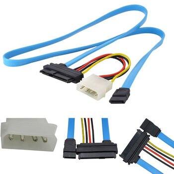 Enchufe SCSI SFF-8482 A Adaptador de cable SATA 45g Puerto 3Gbps HDD reemplazo AZUL 1 piezas convertidor conector