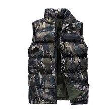Мужской модный джинсовый Камуфляжный жилет, зимняя мужская куртка без рукавов, повседневный мужской женский Камуфляжный жилет, приталенная брендовая одежда