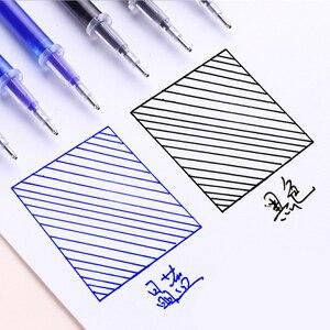 Image 4 - 100 шт./пакет Волшебные стержни для стираемой гелевой ручки, иглы 0,5 мм черные/синие чернила, стирающиеся ручки с ластиком, офисные и школьные принадлежности