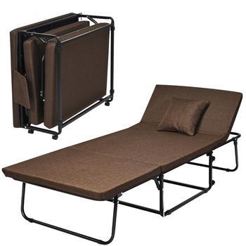 Łóżko składane łóżko sypialne dla gości Ottoman fotel wypoczynkowy w 6 regulacja pozycji tanie i dobre opinie Nowoczesne Meble do salonu Szezlong Meble do domu Steel Sponge linen EPE