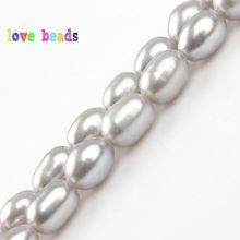 Natural Freshwater Pearls Beads 4*5mm Gray Oval Pearl Bead Loose Pearl For Jewelry Making DIY Bracelet Necklace(China)