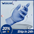 Перчатки нитриловые одноразовые гипоаллергенные маслостойкие для уборки дома/еды/сада, универсальные для левой и правой руки, 100 шт.