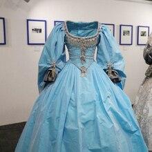 Vestido de fiesta de princesa para mujer, traje de piel de burro azul, quinceañera, con cuentas de satén, de talla grande, dulce, 16, 2020