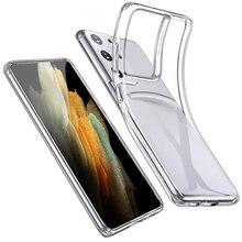 Coque de téléphone Samsung en Silicone TPU souple, étui Transparent pour Galaxy S21 Ultra S21 Plus S21 Ultra