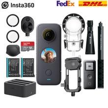 Insta360 um x2 360 câmera de ação 5.7k vr vídeo 10m à prova dwaterproof água insta 360 um x2 bolso panorama esporte câmera