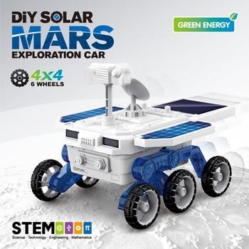 SUBOTECH DIY Building Blocks Explorer Car Toys For Kids Children Assembly Kit STEM Educational Gift Solar Powered Cars