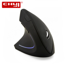 CHYI Left Hand Wireless Vertical Mouse Ergonomic 2.4Ghz 1600 DPI Optical USB Charging Left-handed Wireless Gaming Mouse For PC цена в Москве и Питере