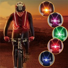 High Visibility Warning Vest Flash LED Driving Night Driving Cycling Running Out