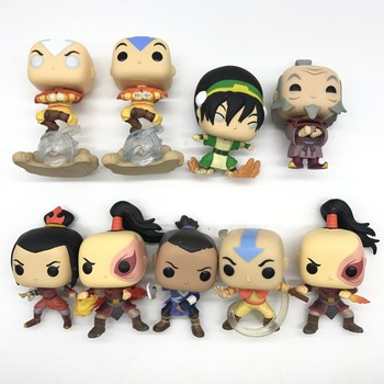 Figuras de acción de Avatar de los últimos airbenders luminosos AZULA /Aang/ KATARA/ ZUKO/APPA/sokkkazuko, juguete de modelos coleccionables en vinilo