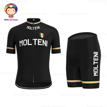 Molteni Children Cycling Jersey Set Retro Black Cycling Jersey Short Sleeves Clothing Summer Outdoor Sportswear Maillot Ciclismo nw cycling jersey for men quick dry short sleeve clothing set summer outdoor sportswear black retro cycling jersey for men