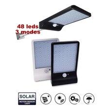48/48 LED Solar Powered Motion Sensor Security Lamp Waterproof IP65 Outdoor Garden Light JDH99