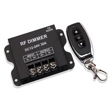 LED Dimmer 3-Button RF High-Power Wireless Remote Control DC12-24V Monochromatic Light Dimmer
